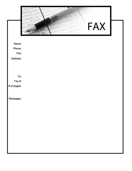 Blank Fax Cover Sheet Sample Template