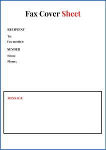Printable Generic Fax Cover Sheet PDF