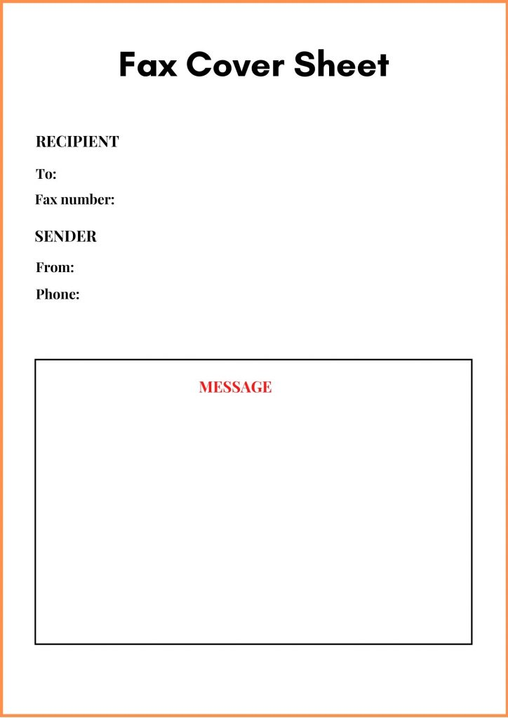 Generic Fax Cover Letter Template
