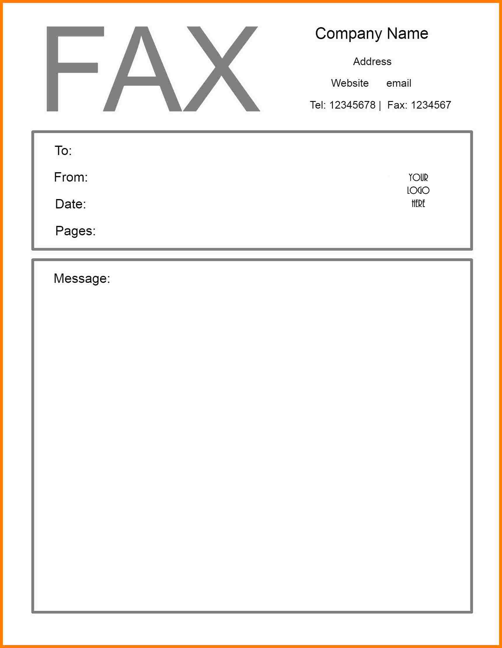 Free Professional Fax Cover Sheet