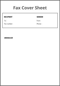 basic fax cover sheet free