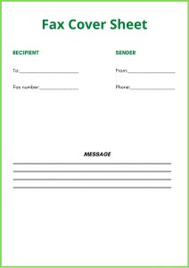 Printable Basic Fax Cover Sheet Template