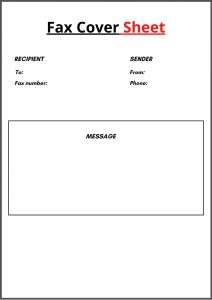 Standard Fax Cover Letter Template