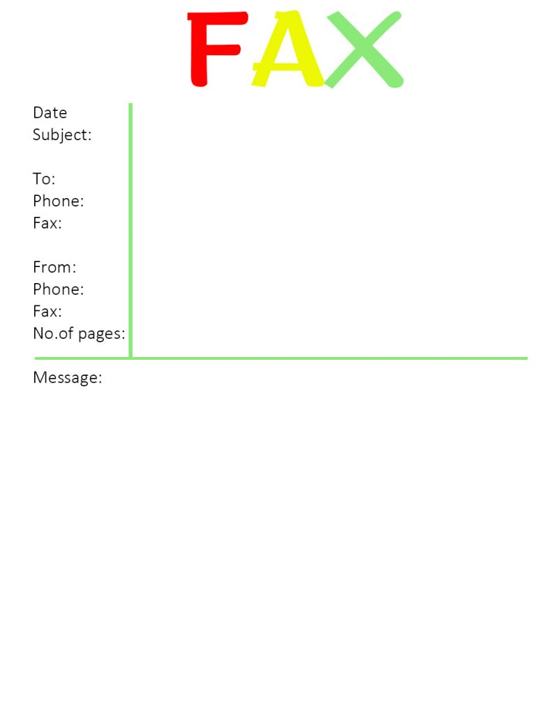 General Fax Cover Sheet Template
