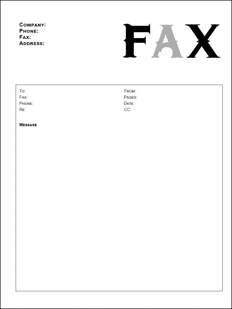 Free Resume Fax Cover Letter PDF